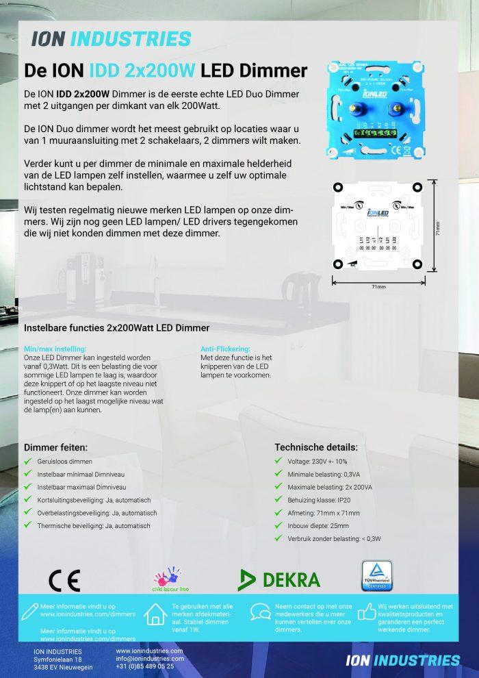 Factsheet duo Dimmer NL_DUO Dimmer