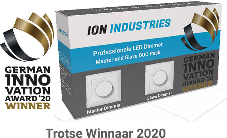 winnaar german innovation award ion industries master slave dimmer led verlichting