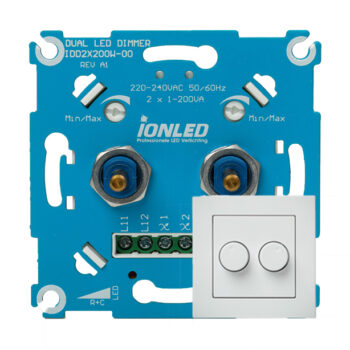 LED Dimmer Duo 2x 200W Inclusief Frontplaat