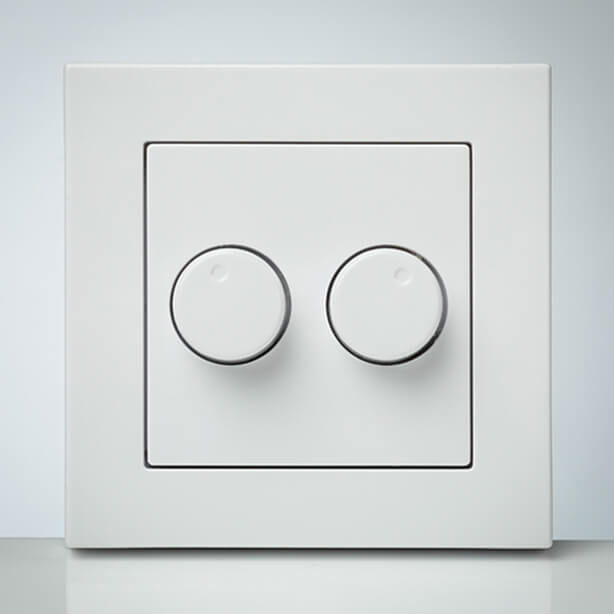 LED dimmer Duo 2x 200W (IDD 2x 200W) faceplate